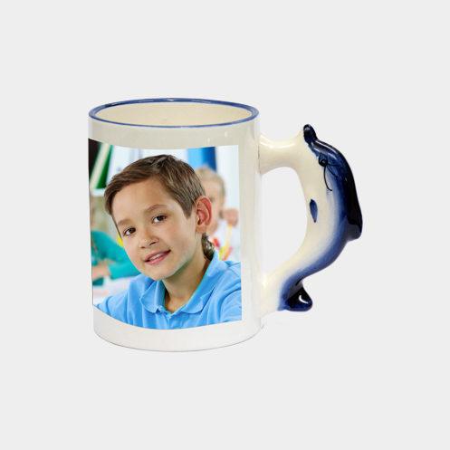 Dolphine Handle Mug 1