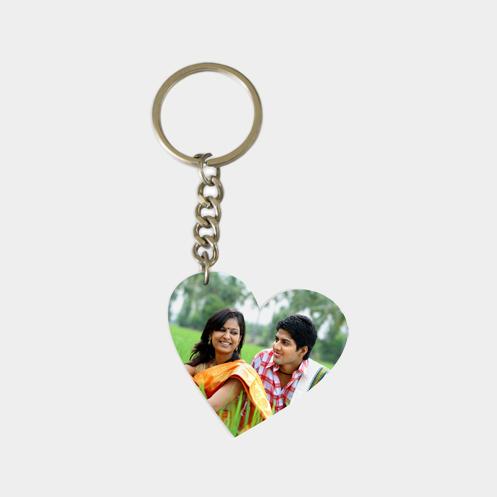 Heart Shape Acrylic Key Ring