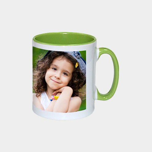 Inner Light Green Coffee Mug