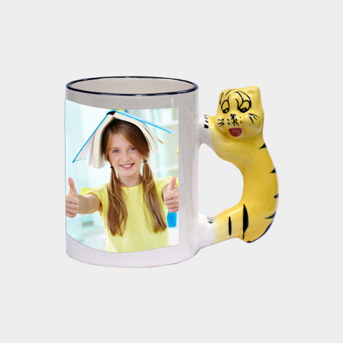 Tiger Handle Mug
